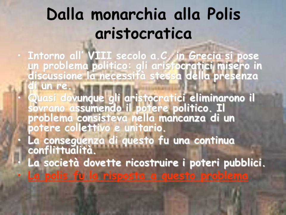 Dalla monarchia alla Polis aristocratica