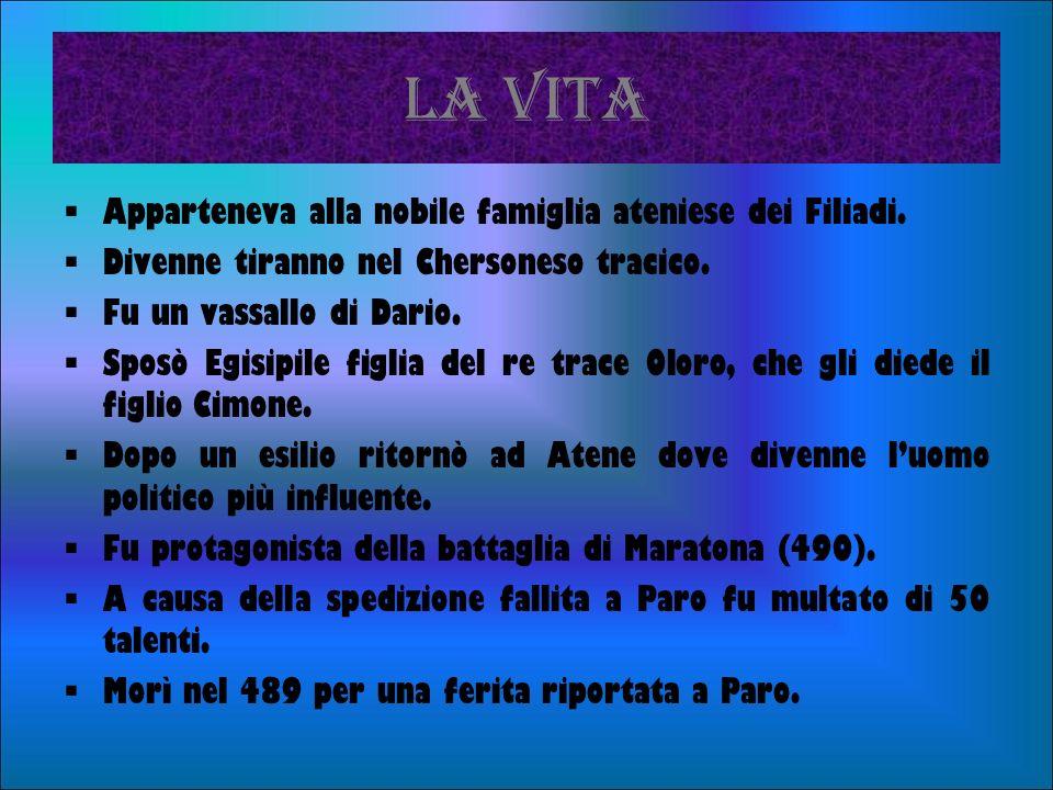 LA VITA Apparteneva alla nobile famiglia ateniese dei Filiadi.