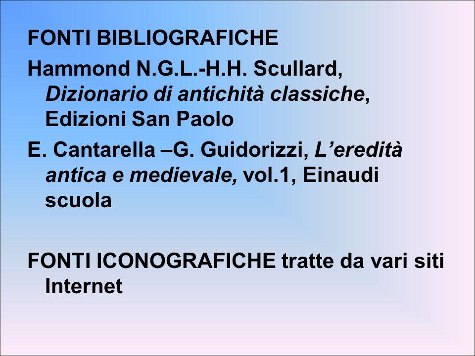 FONTI BIBLIOGRAFICHE Hammond N. G. L. -H. H