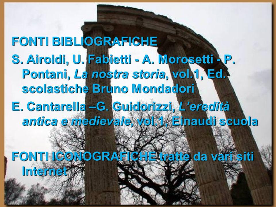 FONTI BIBLIOGRAFICHE S. Airoldi, U. Fabietti - A. Morosetti - P