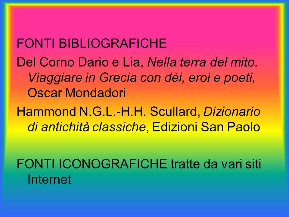 FONTI BIBLIOGRAFICHE Del Corno Dario e Lia, Nella terra del mito