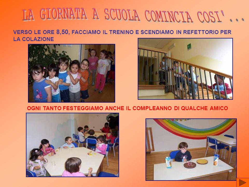 LA GIORNATA A SCUOLA COMINCIA COSI ...