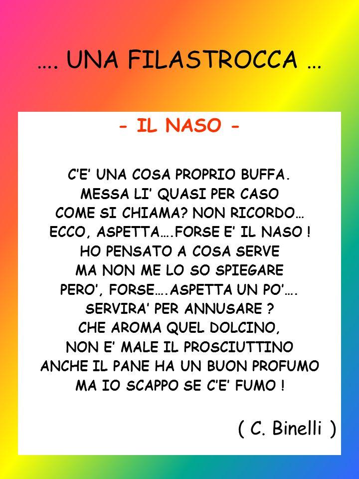 …. UNA FILASTROCCA … - IL NASO - ( C. Binelli )
