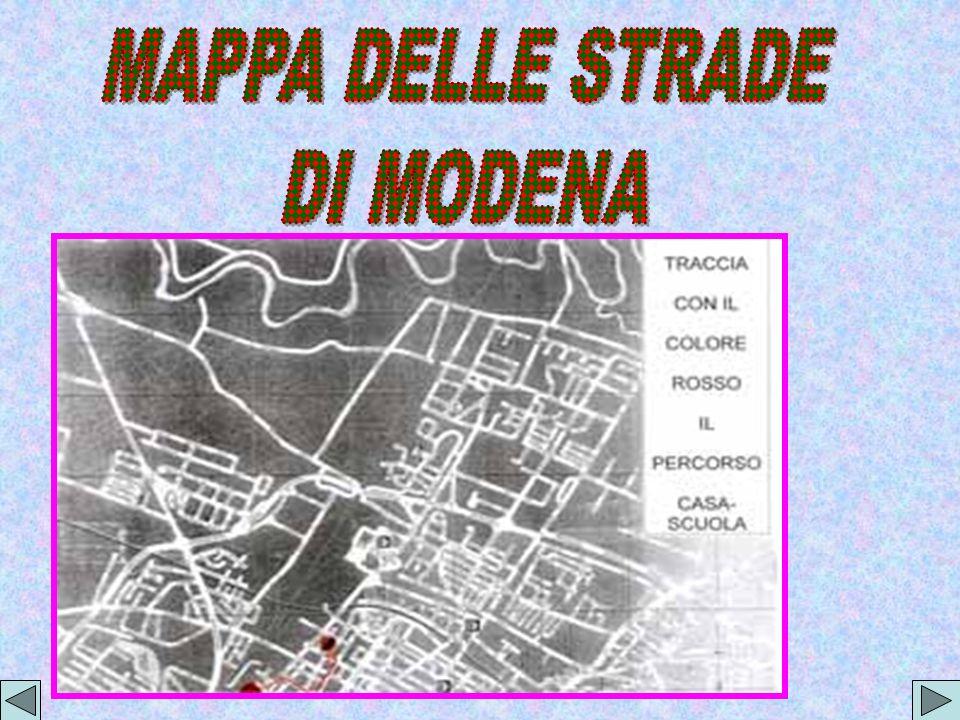 MAPPA DELLE STRADE DI MODENA
