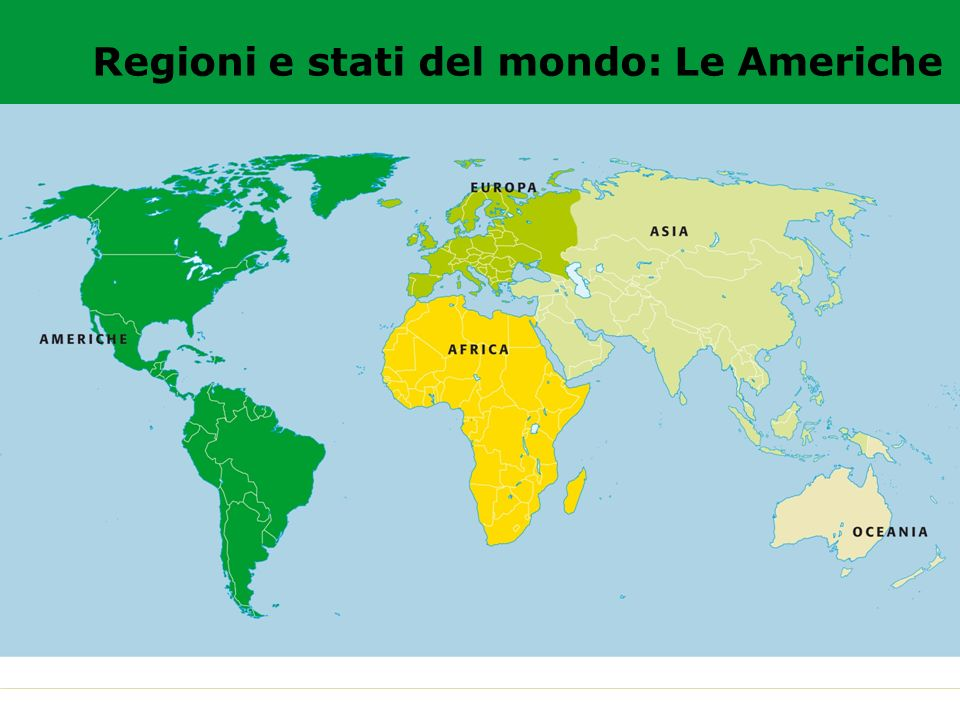 Regioni e stati del mondo: Le Americhe