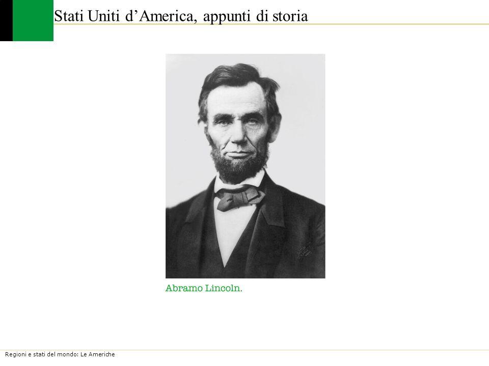 Stati Uniti d'America, appunti di storia