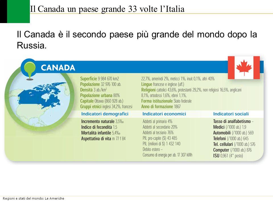 Il Canada un paese grande 33 volte l'Italia