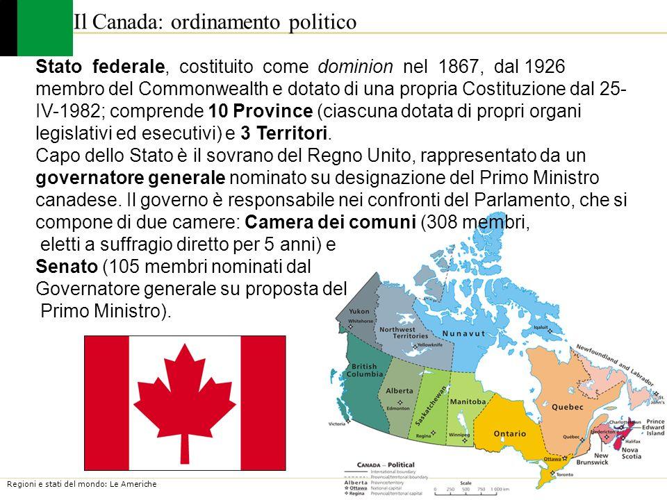 Il Canada: ordinamento politico