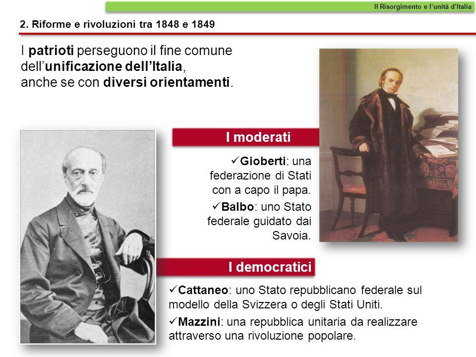 Il Risorgimento e l'unità d'Italia