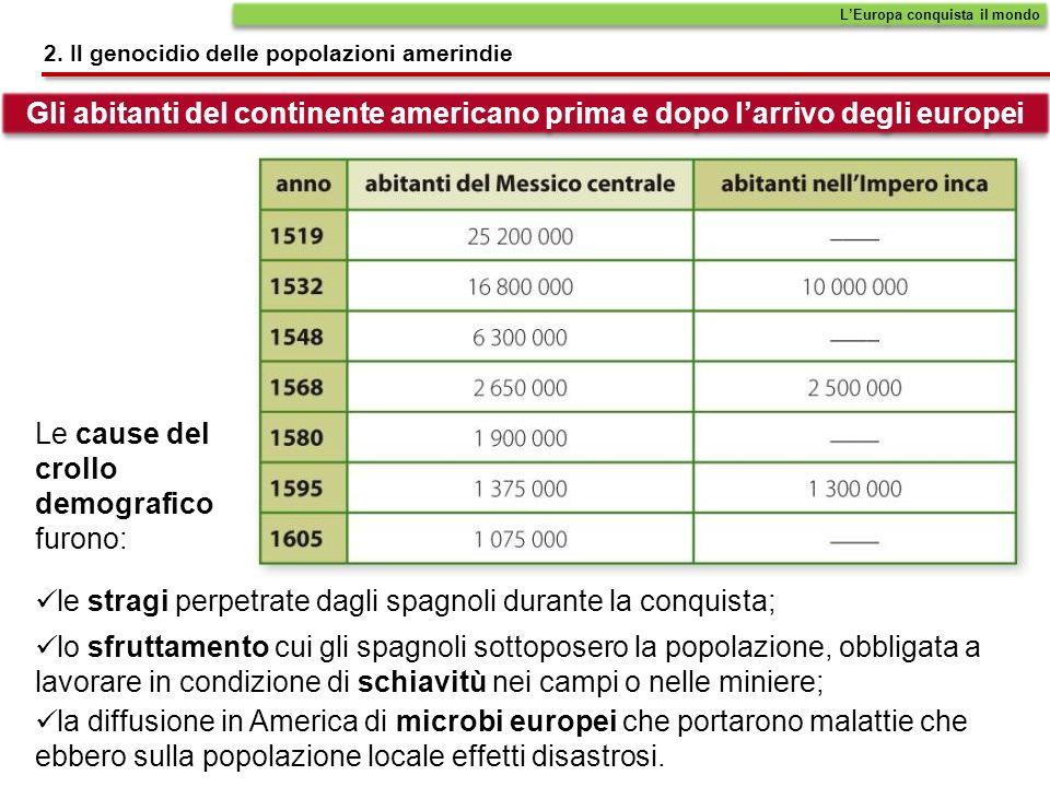 Le cause del crollo demografico furono: