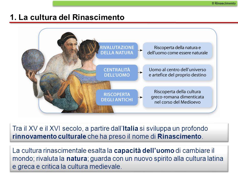 1. La cultura del Rinascimento