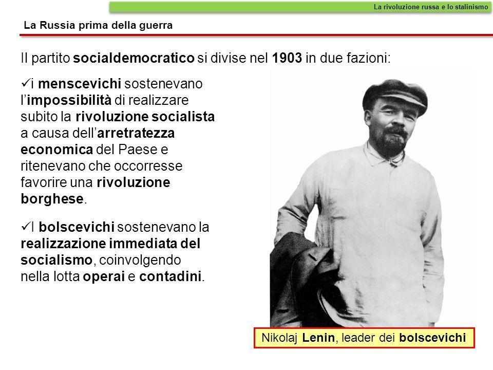 Nikolaj Lenin, leader dei bolscevichi