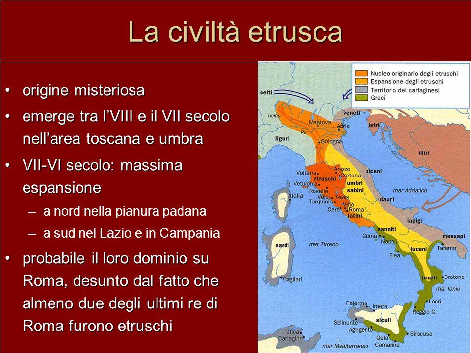 La civiltà etrusca origine misteriosa