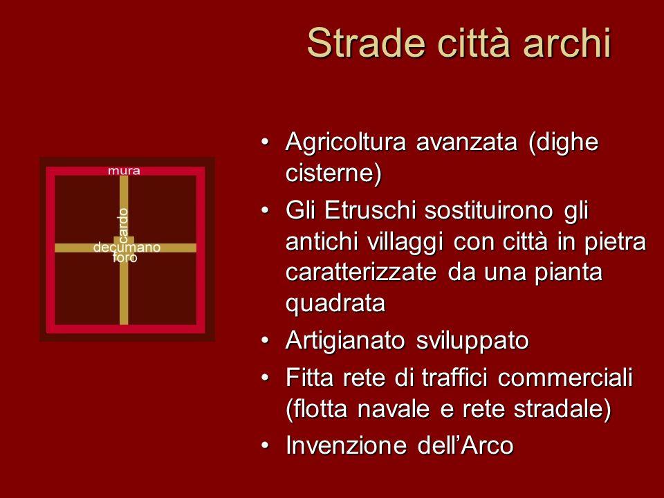 Strade città archi Agricoltura avanzata (dighe cisterne)