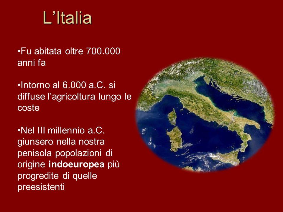 L'Italia Fu abitata oltre 700.000 anni fa
