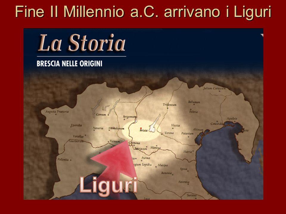 Fine II Millennio a.C. arrivano i Liguri
