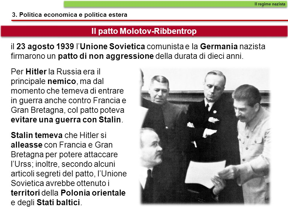 Il patto Molotov-Ribbentrop