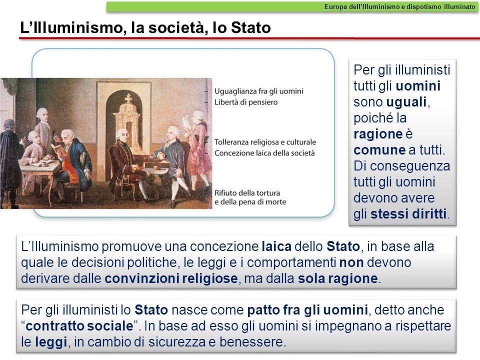 L'Illuminismo, la società, lo Stato