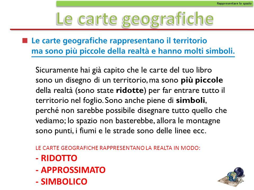 Le carte geografiche - RIDOTTO - APPROSSIMATO - SIMBOLICO