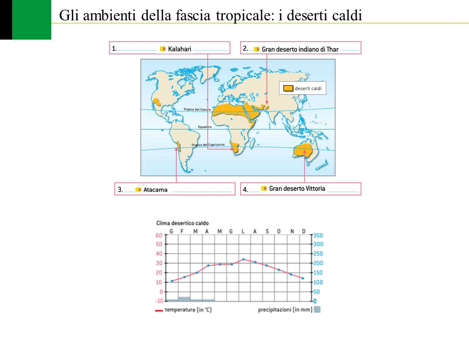 Gli ambienti della fascia tropicale: i deserti caldi