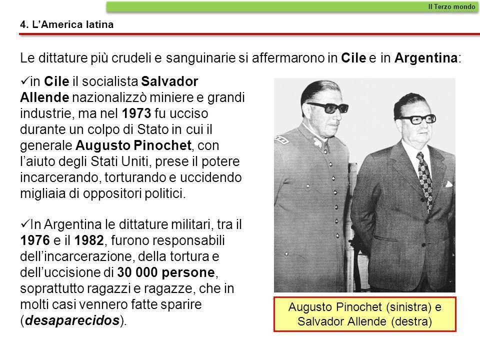 Augusto Pinochet (sinistra) e Salvador Allende (destra)