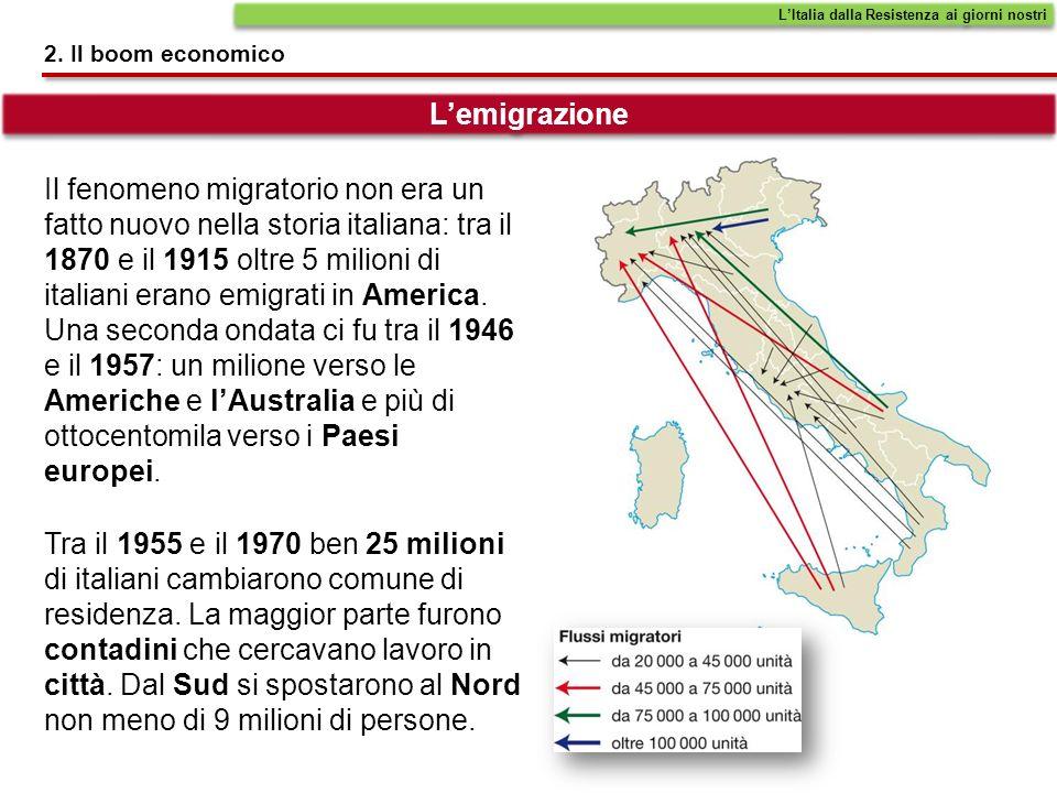 L'Italia dalla Resistenza ai giorni nostri