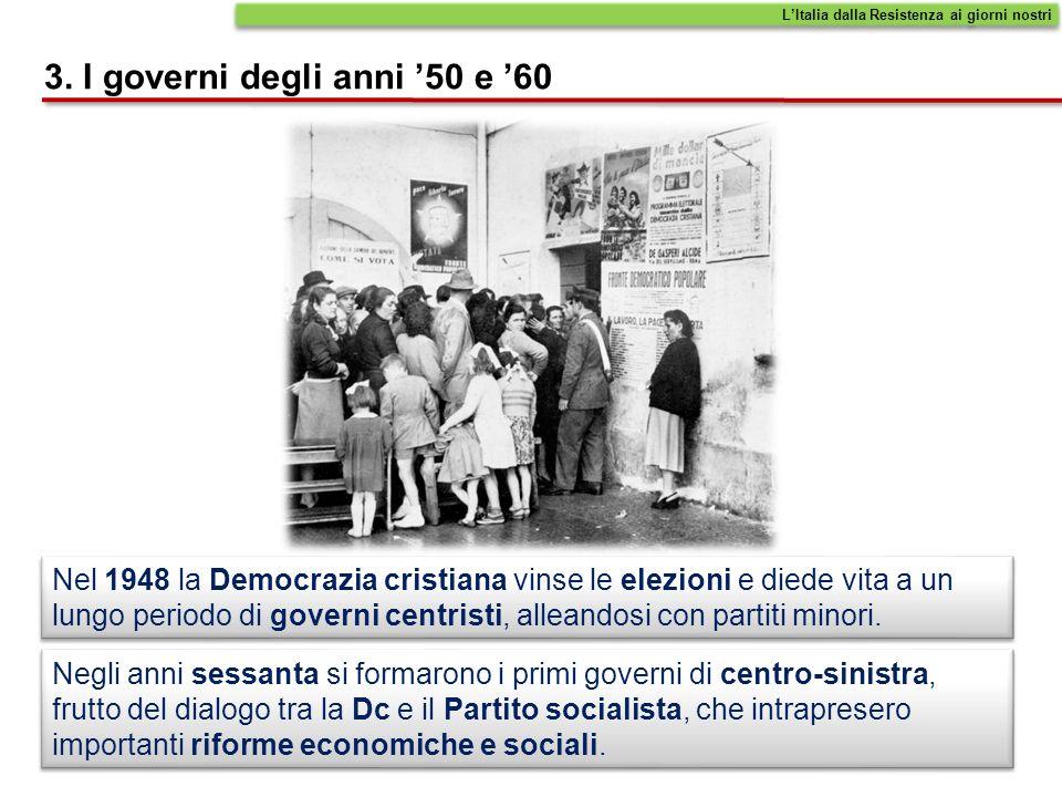 3. I governi degli anni '50 e '60