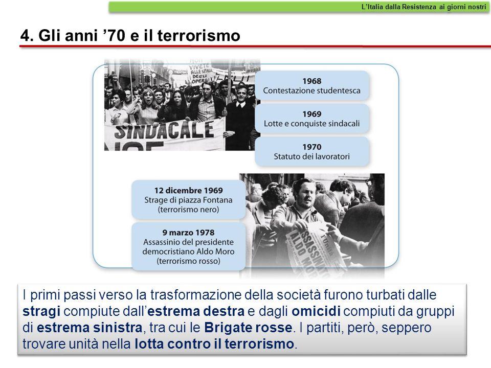 4. Gli anni '70 e il terrorismo