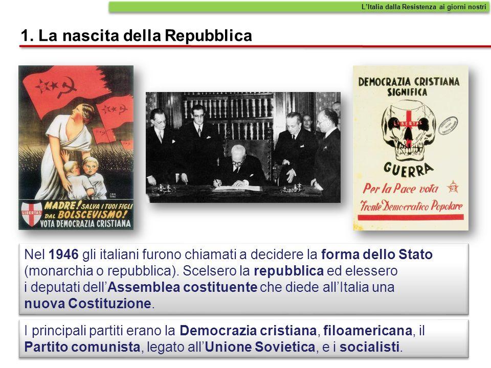 1. La nascita della Repubblica