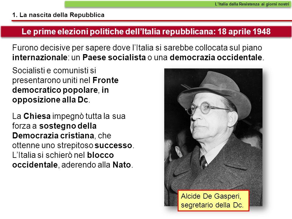 Le prime elezioni politiche dell'Italia repubblicana: 18 aprile 1948