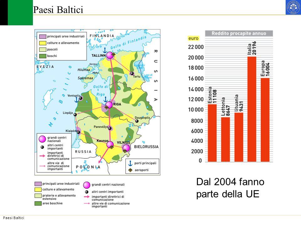 Paesi Baltici Dal 2004 fanno parte della UE