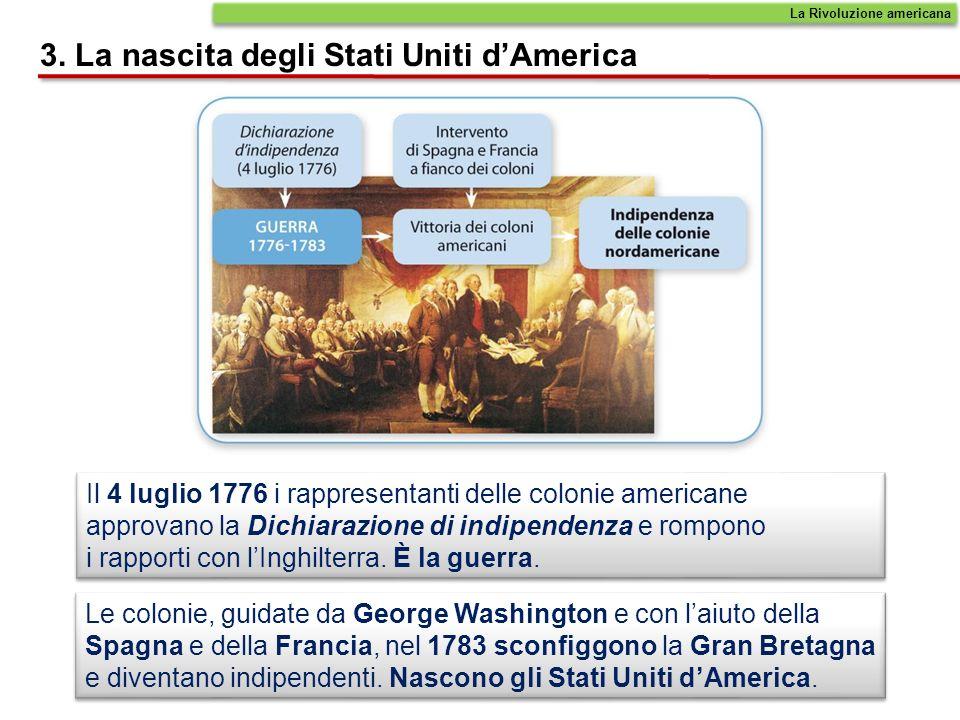 3. La nascita degli Stati Uniti d'America
