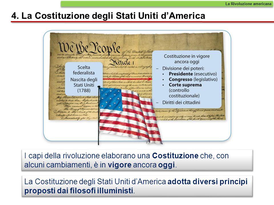 4. La Costituzione degli Stati Uniti d'America