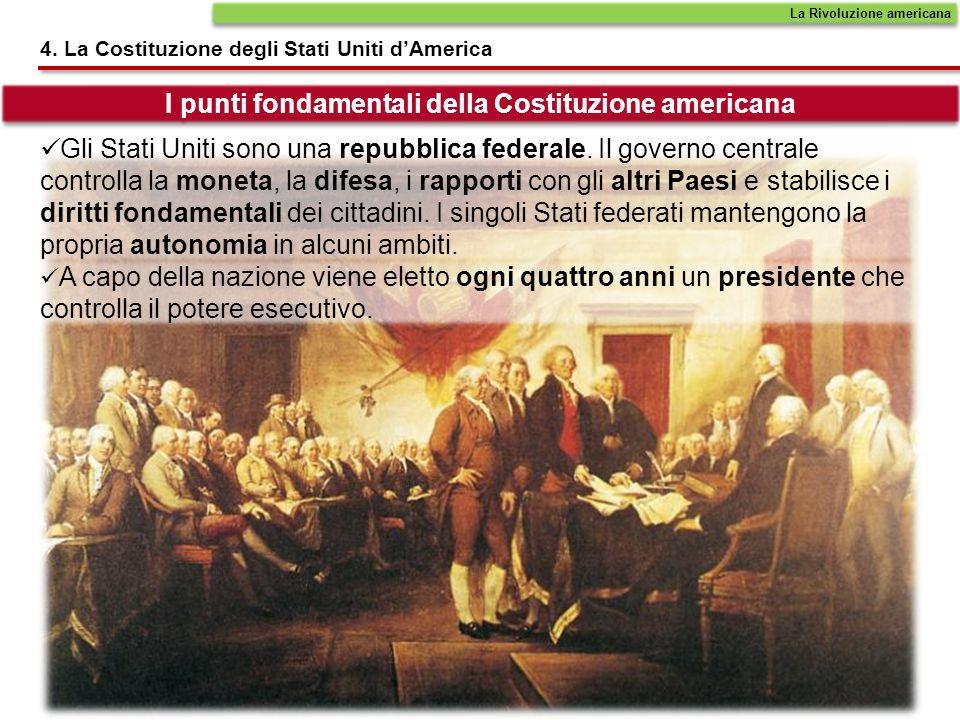 I punti fondamentali della Costituzione americana