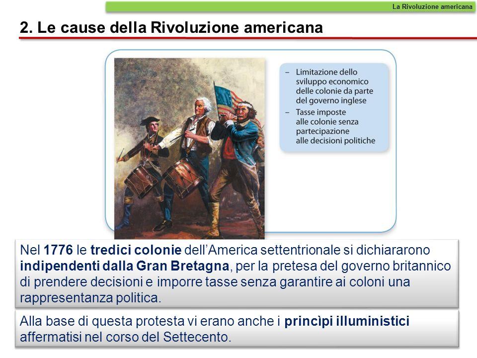 2. Le cause della Rivoluzione americana