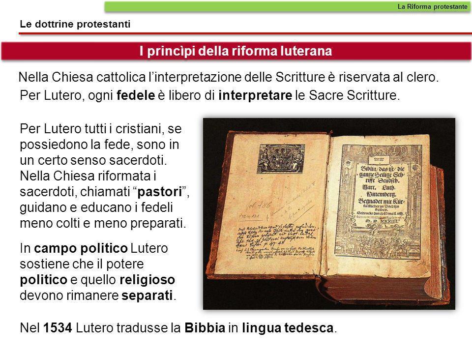 I princìpi della riforma luterana