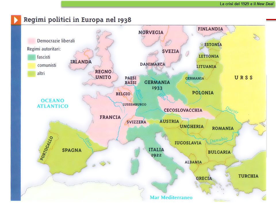 Nell'Europa degli anni 30, prevalsero i regimi totalitari