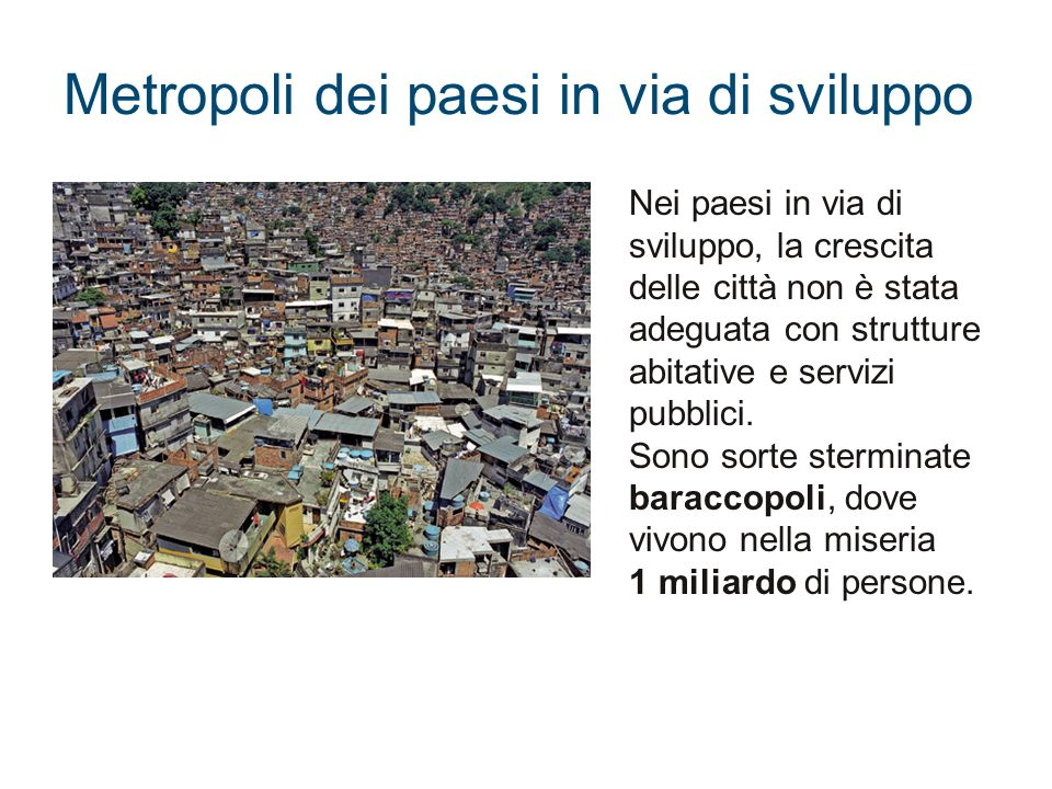 Metropoli dei paesi in via di sviluppo