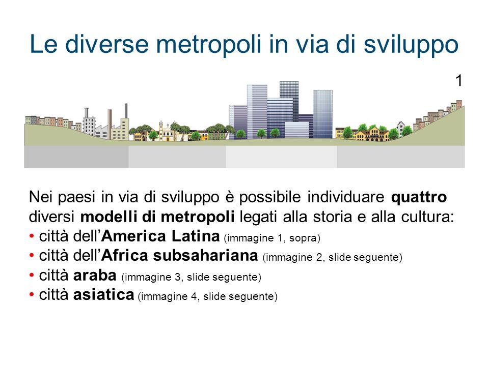 Le diverse metropoli in via di sviluppo