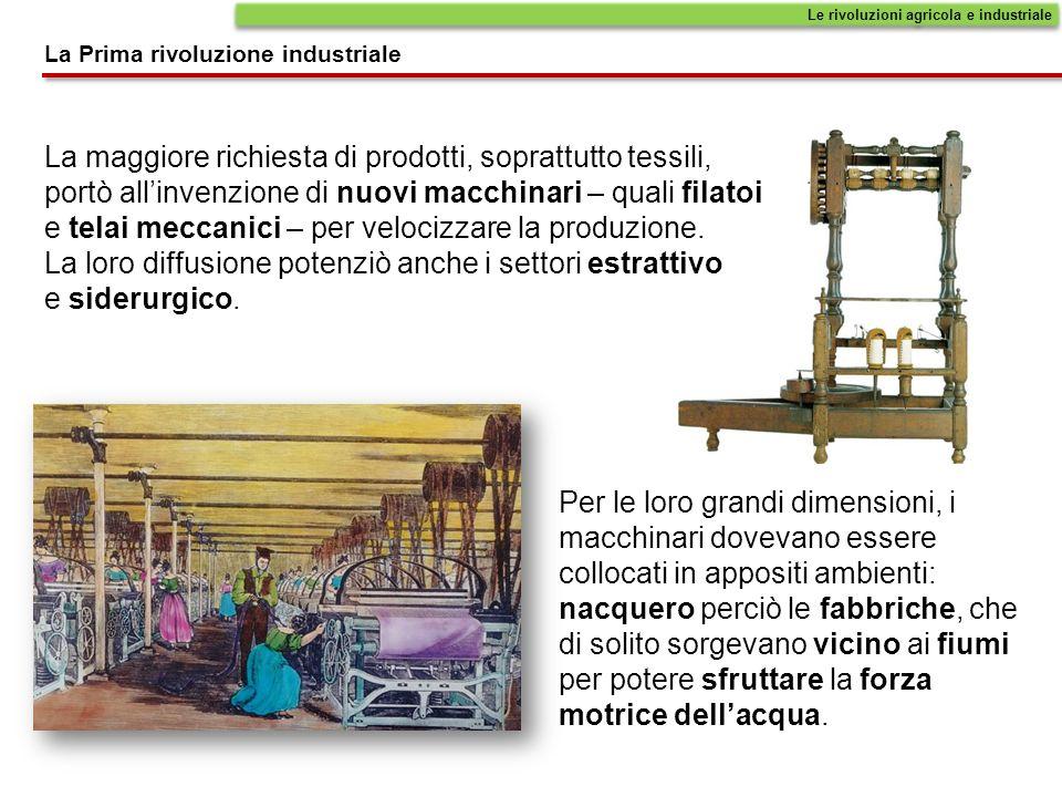 Le rivoluzioni agricola e industriale