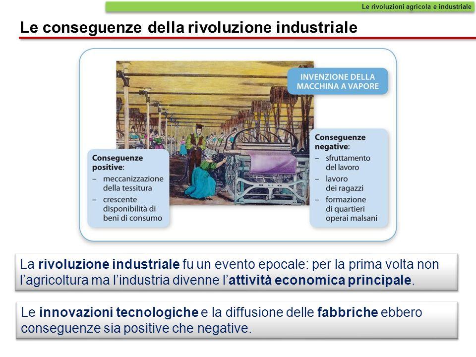 Le conseguenze della rivoluzione industriale