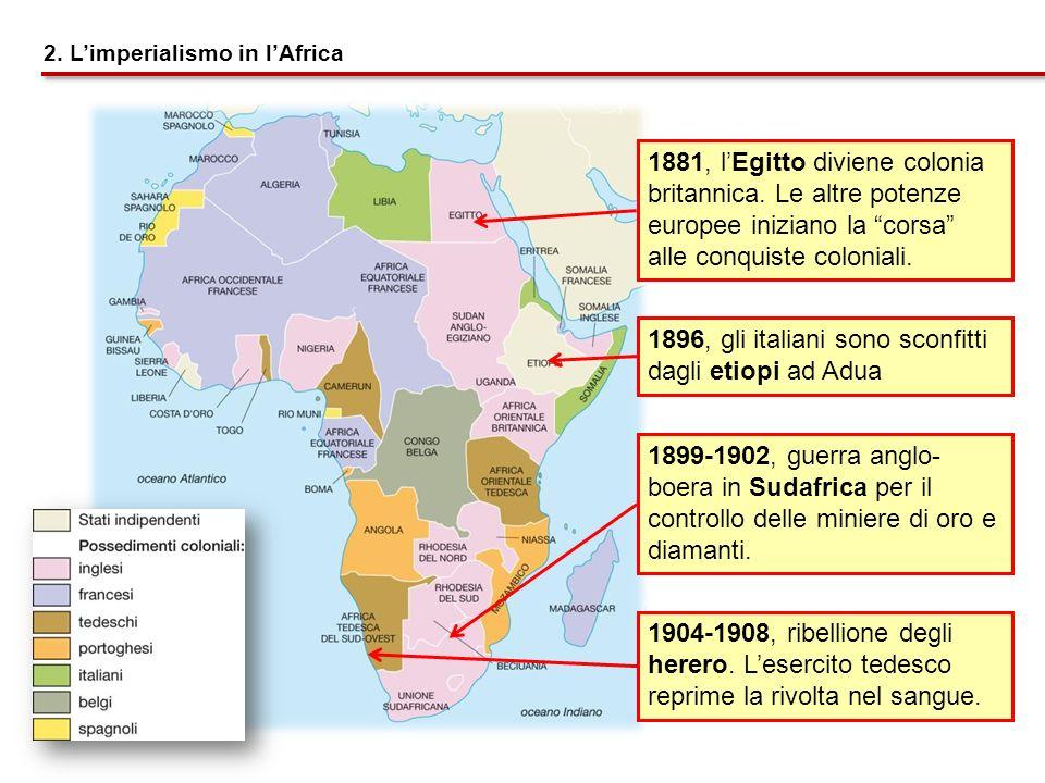 1896, gli italiani sono sconfitti dagli etiopi ad Adua