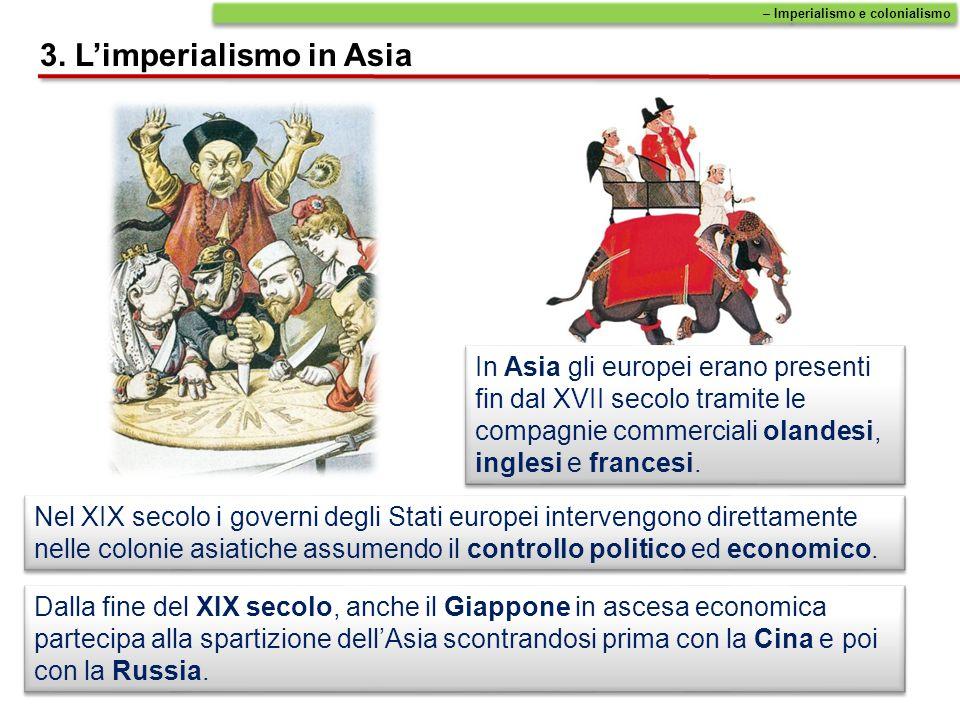 3. L'imperialismo in Asia
