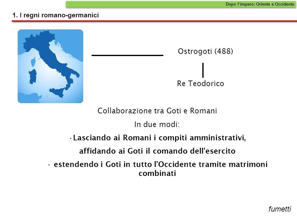 Collaborazione tra Goti e Romani In due modi: