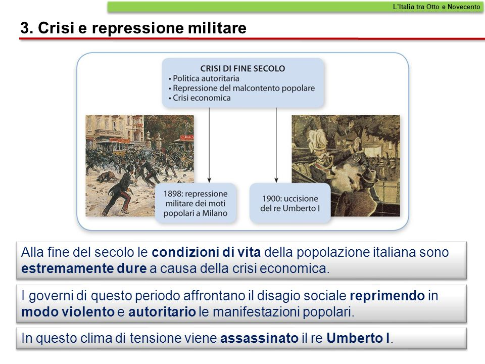 3. Crisi e repressione militare