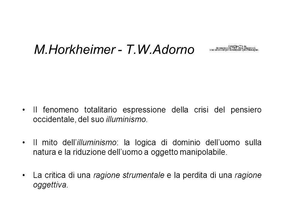 M.Horkheimer - T.W.Adorno