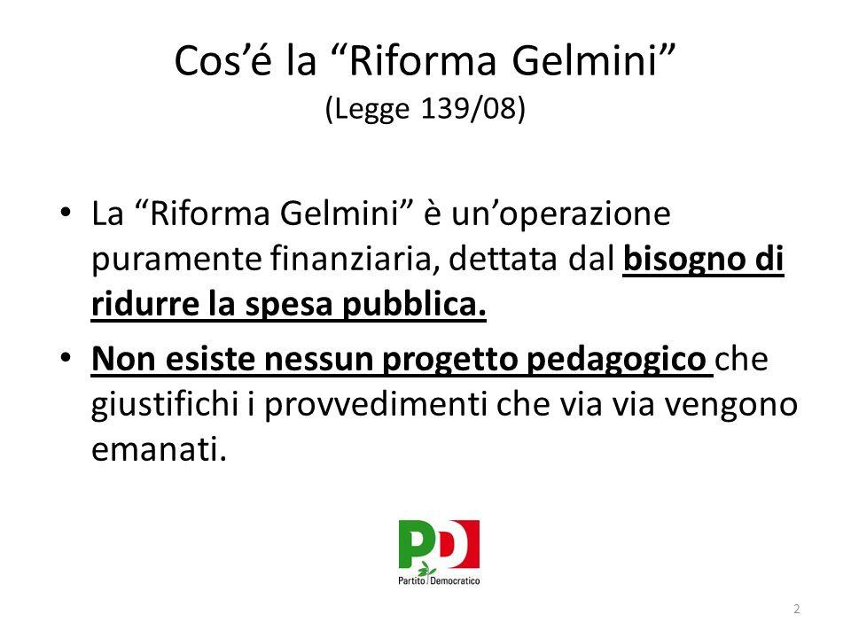 Cos'é la Riforma Gelmini (Legge 139/08)