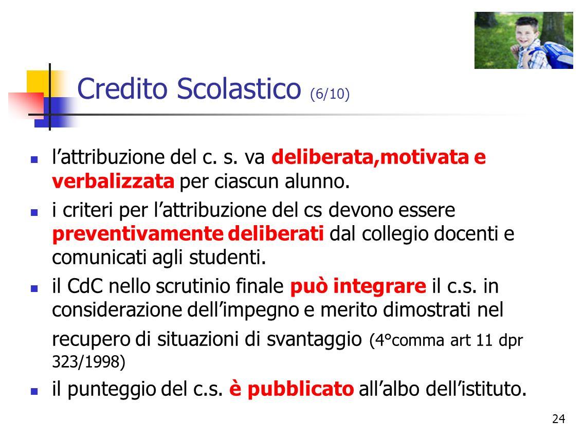 Credito Scolastico (6/10)