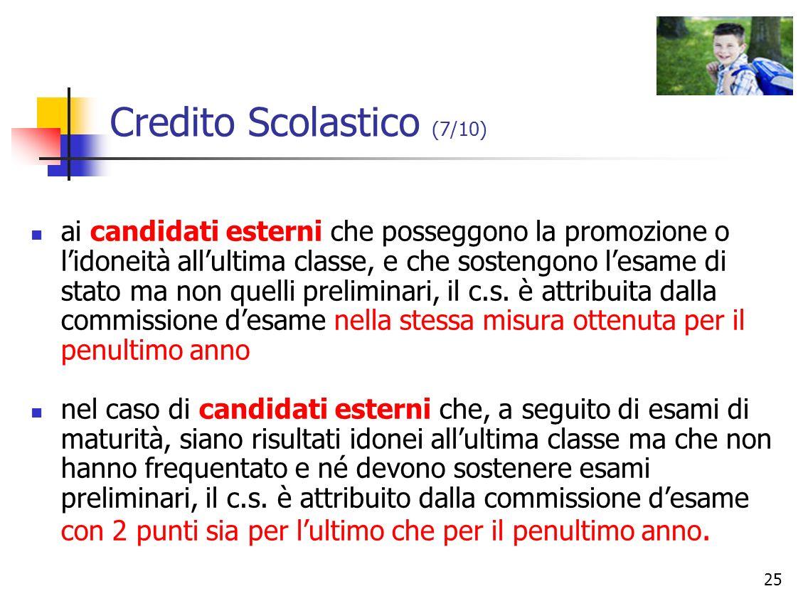 Credito Scolastico (7/10)