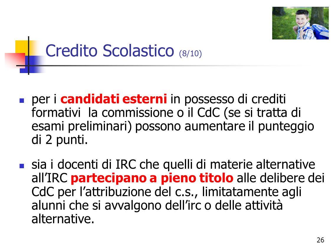 Credito Scolastico (8/10)